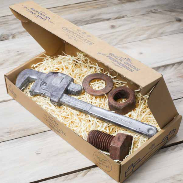 Monkey Wrench, Large Nut, Bolt & Washer Gift Box