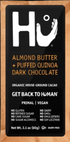 Hu Almond Butter Puffed Quinoa Vegan Chocolate Bar