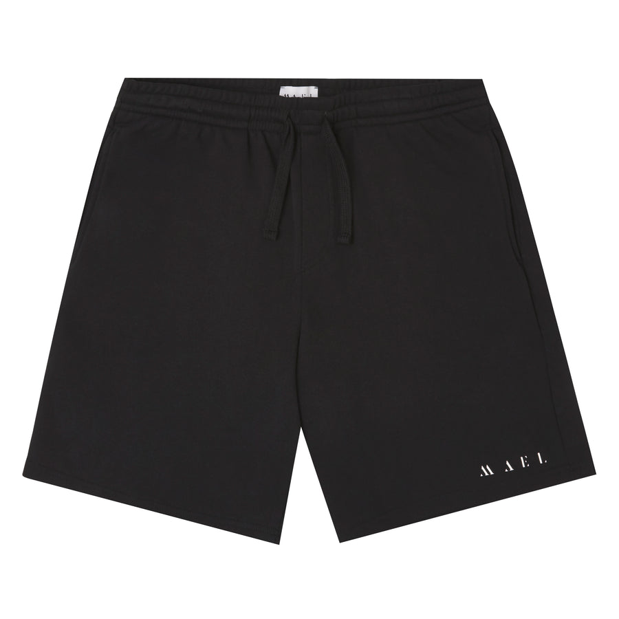 MAEL JOGGING SHORT NAME LOGO BLACK