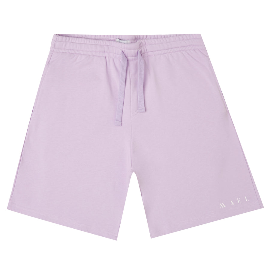 MAEL JOGGING SHORT NAME LOGO LILA