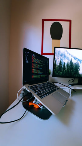 working from home portable laptop stand