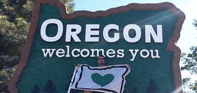 Oregon Welcome Sign Heart in Oregon