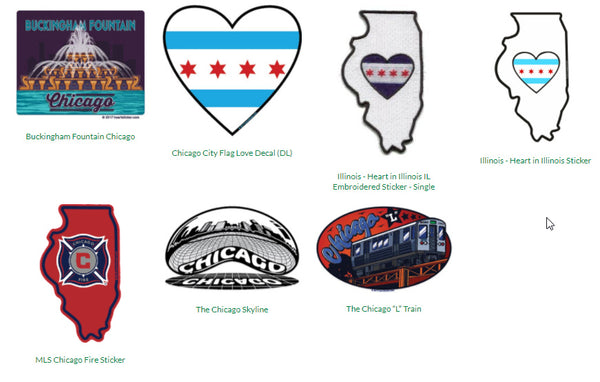 stickers of the city of chicago