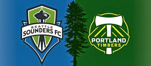 Seattle Sounders vs Portland Timbers MLS FC Major League Soccer Teams Playoffs Semifinals Post Season