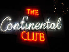 Continental Club Neon Sign in Austin Texas