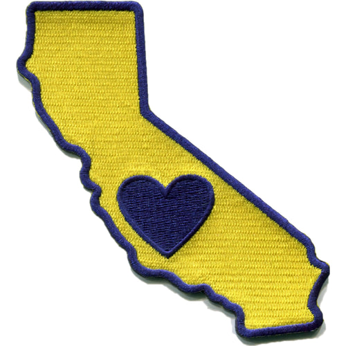California - Heart In California Embroidered Sticker - Single