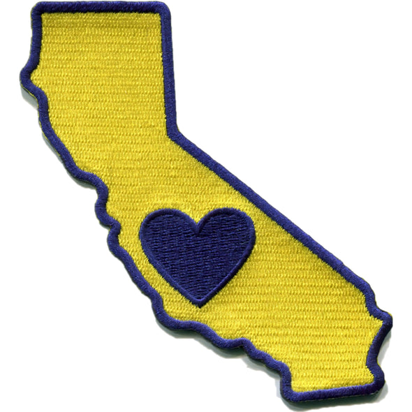 Patch | Heart In California | Sticky-Back - The Heart Sticker Company