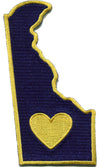 Patch | Heart In Delaware | Sticky-Back - The Heart Sticker Company
