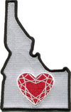 Patch | Heart In Idaho | Sticky-Back - The Heart Sticker Company