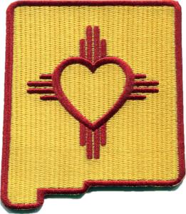 New Mexico - Heart in New Mexico NM Embroidered Sticker - Single