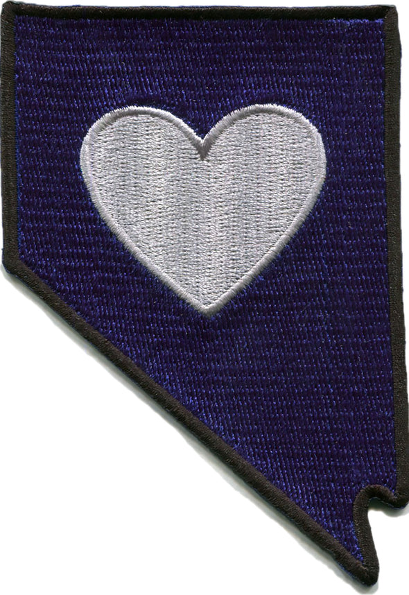Patch | Heart In Nevada | Sticky-Back - The Heart Sticker Company