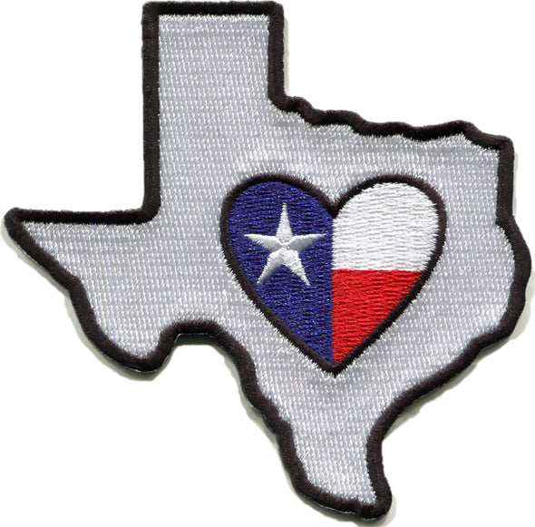 Patch | Heart In Texas | Sticky-Back - The Heart Sticker Company