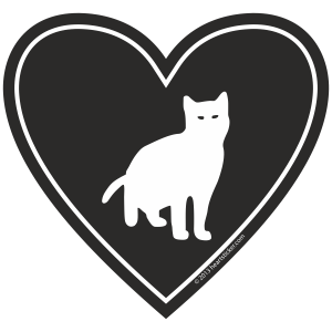 In My Heart - Cat Sticker - The Heart Sticker Company