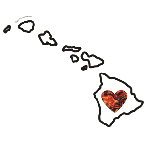 Heart in Hawaii Love Sticker - The Heart Sticker Company