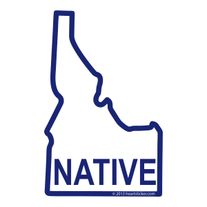 Heart in Idaho - Native Sticker - The Heart Sticker Company