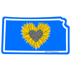 Heart in Kansas Sticker