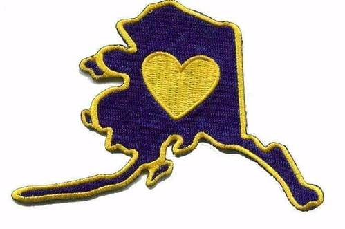 Alaska - Heart In Alaska AK Embroidered Sticker - Single