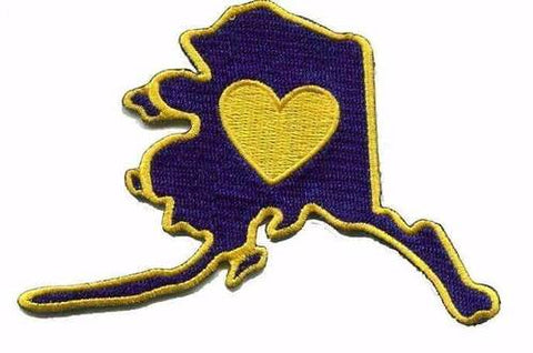 Virginia - Heart in Virginia VA Embroidered Sticker - Single