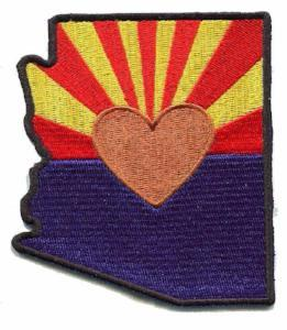 Patch | Heart In Arizona | Sticky-Back - The Heart Sticker Company