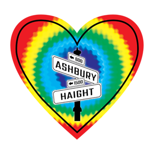 In My Heart - California,Haight Ashbury Sticker - The Heart Sticker Company
