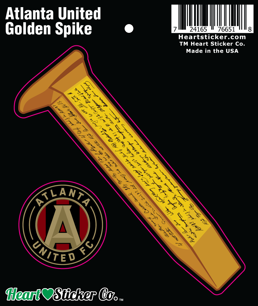 Atlanta United FC Golden Spike and badge 2 stickers in 1