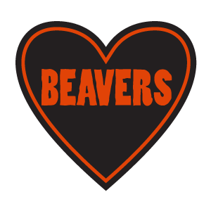 "Sticker | ""Beavers"" (Rough Font) 