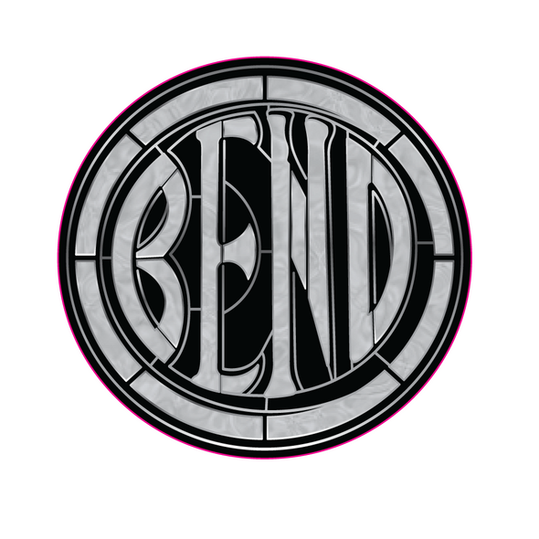 Sticker | Bend Stained Glass - The Heart Sticker Company