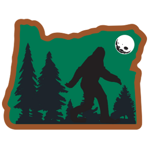 Sticker | Bigfoot in Oregon (Sasquatch) - The Heart Sticker Company