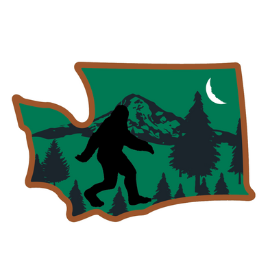 Sticker | Bigfoot in Washington - The Heart Sticker Company