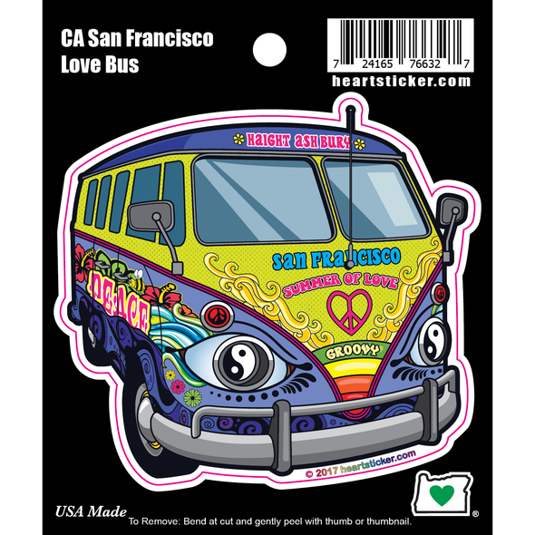 Sticker | San Francisco Love Bus Sticker - The Heart Sticker Company