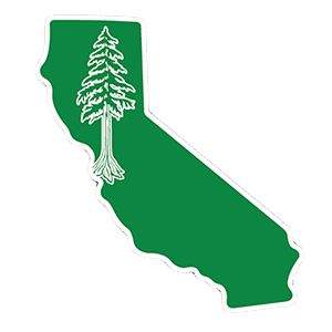 Heart in California - Redwood Sticker - The Heart Sticker Company