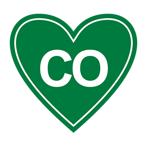 "In My Heart - Colorado, ""CO"" Sticker - The Heart Sticker Company"