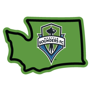 Sticker | Seattle Sounders in WA - The Heart Sticker Company