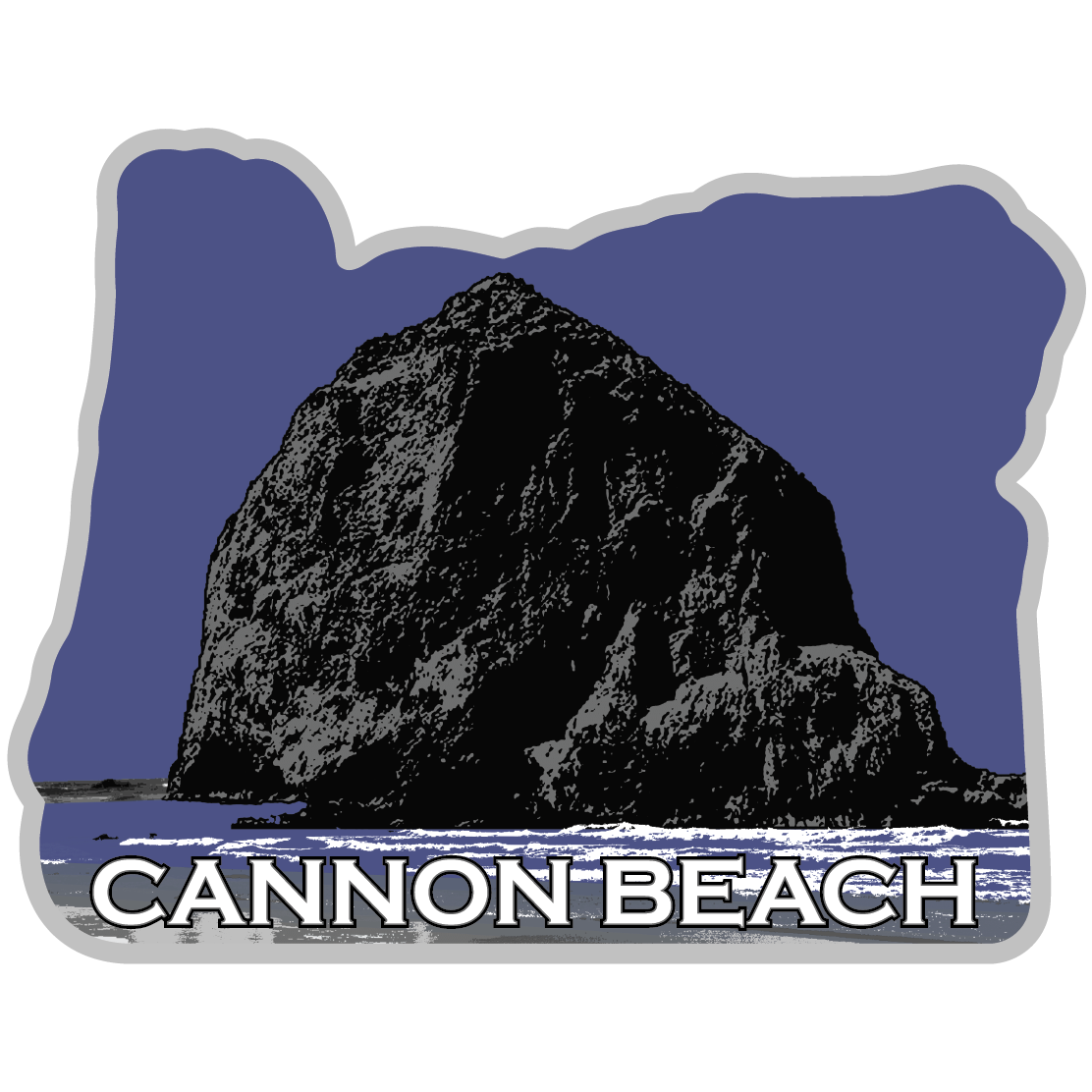 Cannon Beach Oregon Sticker - The Heart Sticker Company
