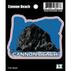 Sticker | Cannon Beach in Oregon - The Heart Sticker Company