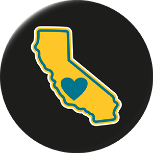 Magnet | Heart in California | Central - The Heart Sticker Company