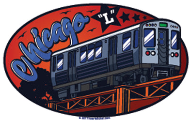 "Sticker | The Chicago ""L"" Train - The Heart Sticker Company"