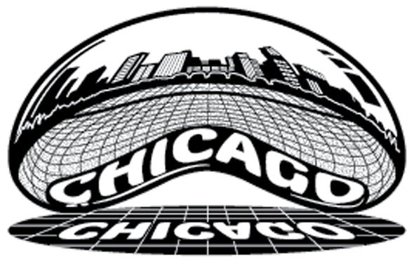 Sticker | Chicago Cloud Gate Skyline ... The Bean | Chrome - The Heart Sticker Company