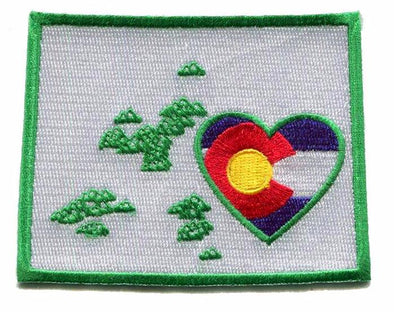 heart in colorado state flag in heart patch