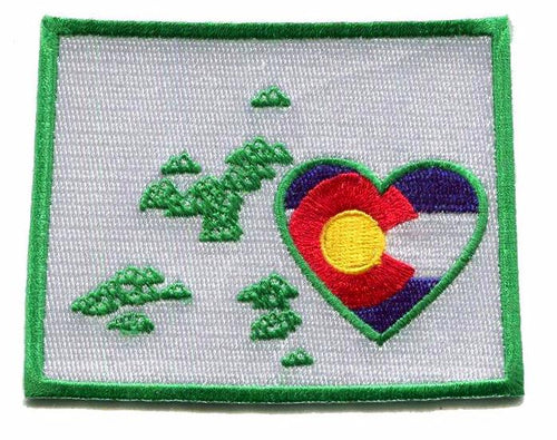 Colorado - Heart In Colorado CO Embroidered Sticker- Single
