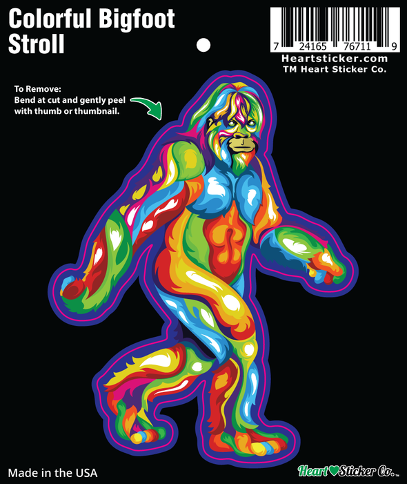 Sticker | Bigfoot Stroll | Bold Colors