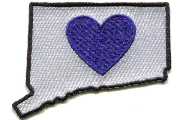 Patch | Heart In Connecticut | Sticky-Bac - The Heart Sticker Company