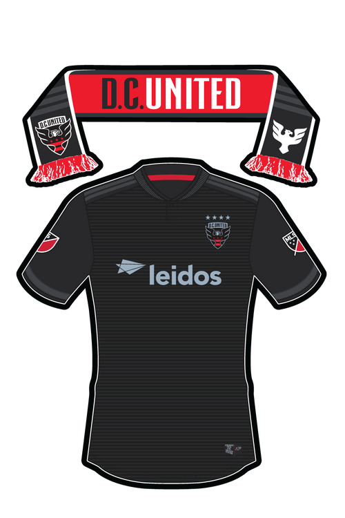 MLS D.C. United Uniform/Scarf Sticker