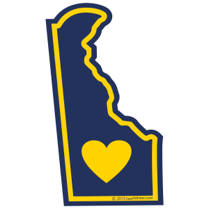 Sticker | Heart in Delaware - The Heart Sticker Company