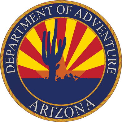Arizona - Arizona Department of Adventure Sticker