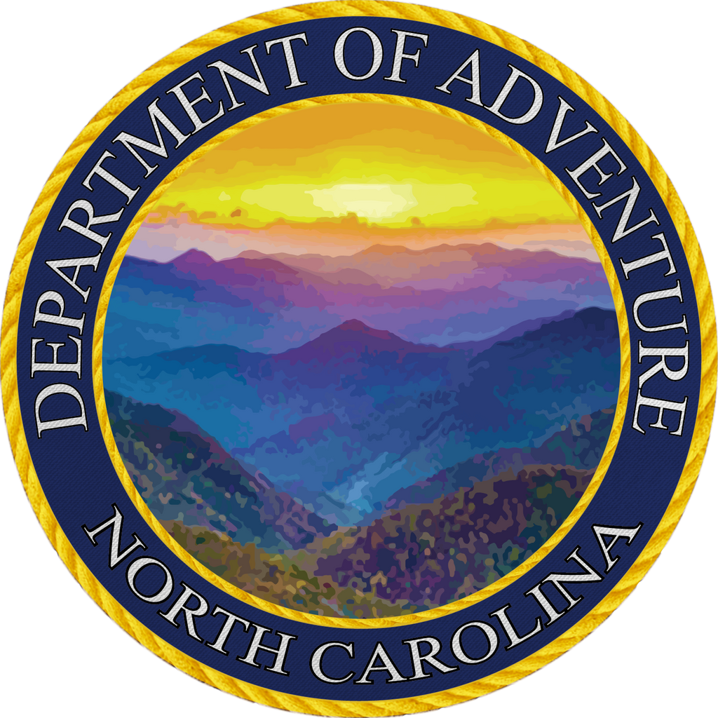 North Carolina Department of Adventure Sticker - The Heart Sticker Company