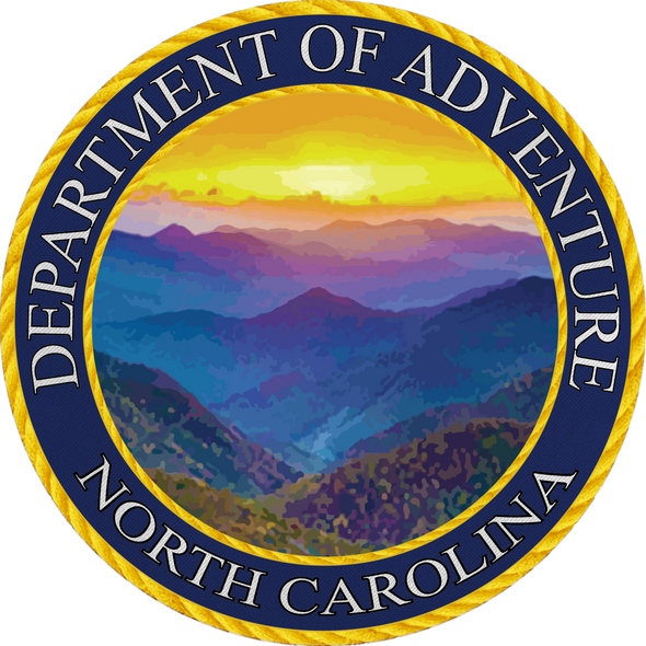 Sticker | NC Dept. of Adv | Blue Ridge Mnt. - The Heart Sticker Company