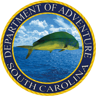 South Carolina Department of Adventure Sticker - The Heart Sticker Company