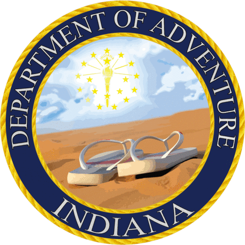Indiana - Indiana Department of Adventure Sticker