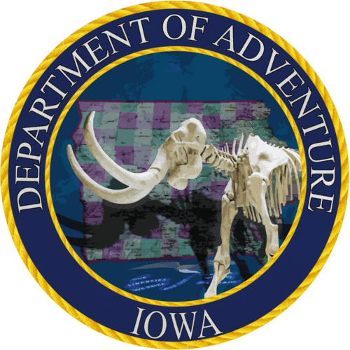 Iowa - Iowa Department of Adventure Sticker